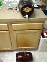 rack to secondary mr. beer fermenter