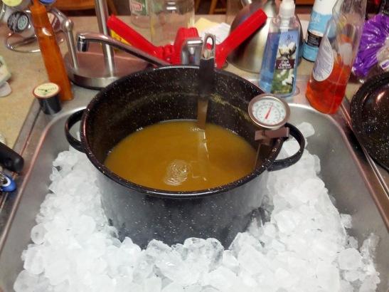 Chilling Wort Ice Bath