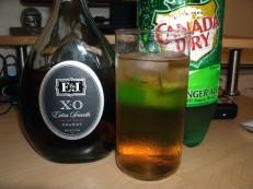 E&J XO Brandy Ginger ale